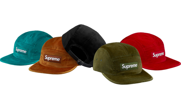 Supreme Velvet Camp Cap - zero's zeros world sneakers hypebeast streetwear street wear store stores shop los angeles melrose fairfax hollywood santa monica LA l.a. legit authentic cool kicks undefeated round two flight club solestage supreme where to buy sell trade consign yeezy yezzy yeezys vlone virgil abloh bape assc off white hype sneaker shoes streetwear sneakerhead consignment trade resale best dopest shopping