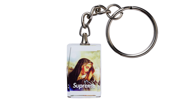 Supreme Virgin Mary Keychain - zero's zeros world sneakers hypebeast streetwear street wear store stores shop los angeles melrose fairfax hollywood santa monica LA l.a. legit authentic cool kicks undefeated round two flight club solestage supreme where to buy sell trade consign yeezy yezzy yeezys vlone virgil abloh bape assc chrome hearts off white hype sneaker shoes streetwear sneakerhead consignment trade resale best dopest shopping