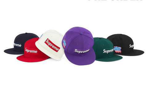 Supreme x New Era World Famous Box Logo Cap - zero's zeros world sneakers hypebeast streetwear street wear store stores shop los angeles melrose fairfax hollywood santa monica LA l.a. legit authentic cool kicks undefeated round two flight club solestage supreme where to buy sell trade consign yeezy yezzy yeezys vlone virgil abloh bape assc off white hype sneaker shoes streetwear sneakerhead consignment trade resale best dopest shopping
