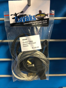 Stealth Fixed Rudder Cable Repair Kit - Wild Coast Kayaks