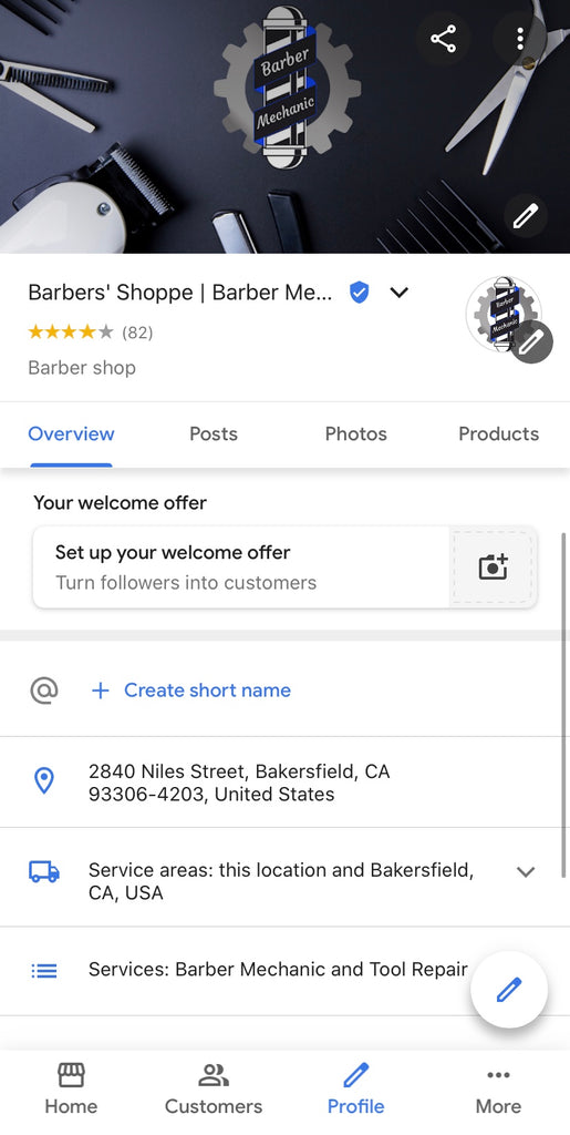 Social marketing nation barber mechanic google my business