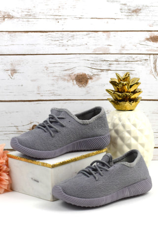 The Nacara Knit Sneakers - Gray