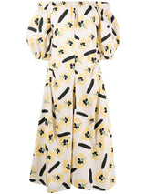 Maggie Organic Cotton Dress In Flower Print