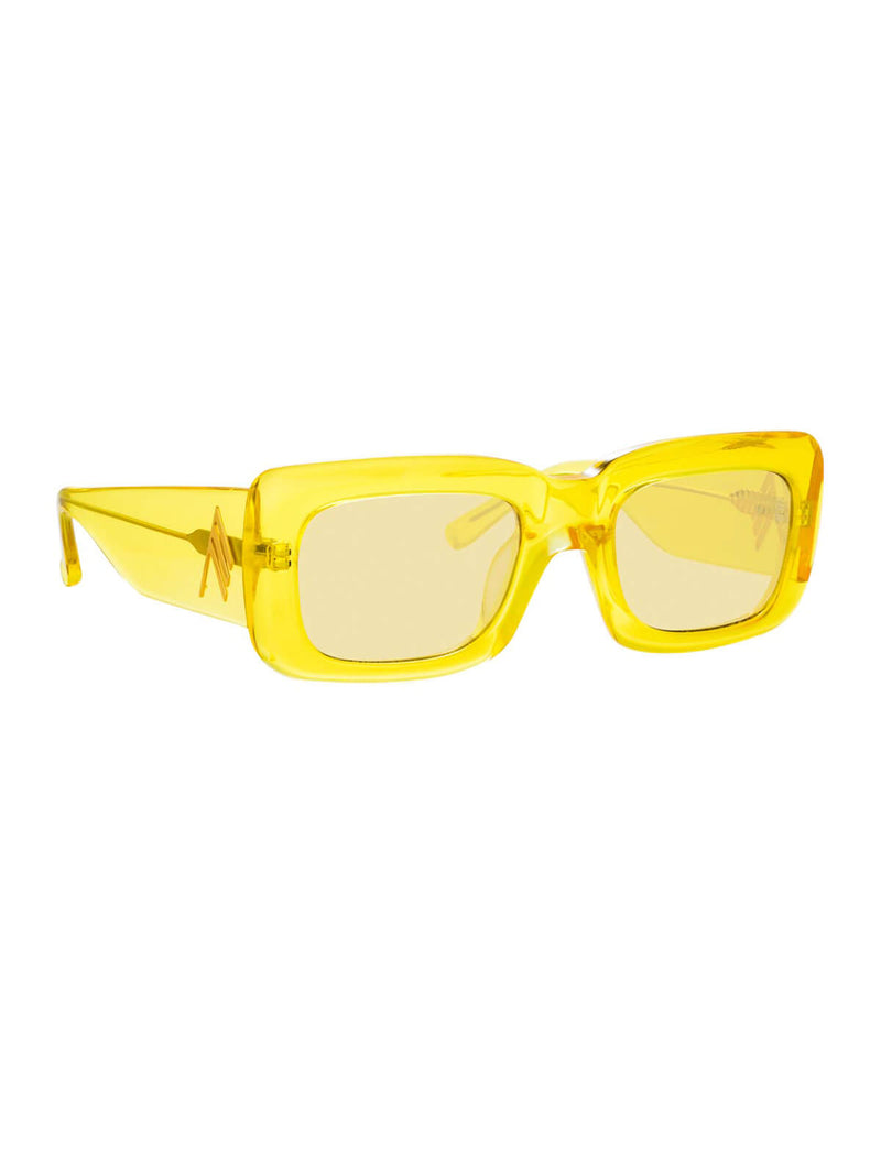 The Attico Marfa Sunglasses in Yellow