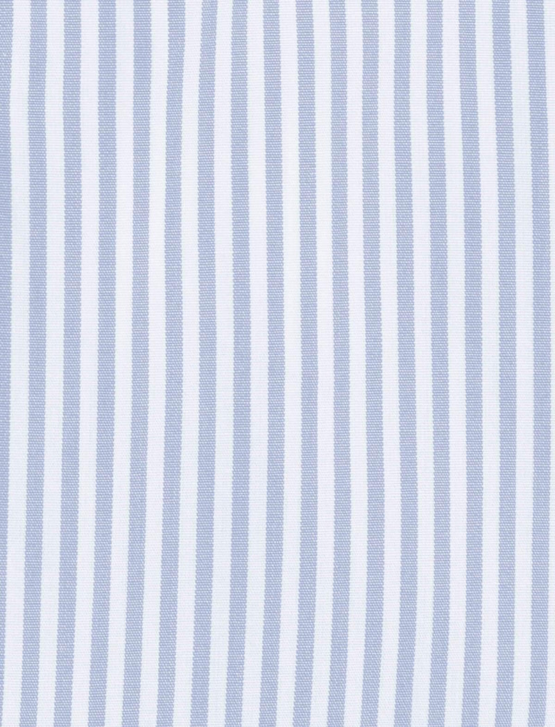 Journey Wrinkle-Resistant Shirt in White/ Light Blue Stripes - CLOSET Singapore