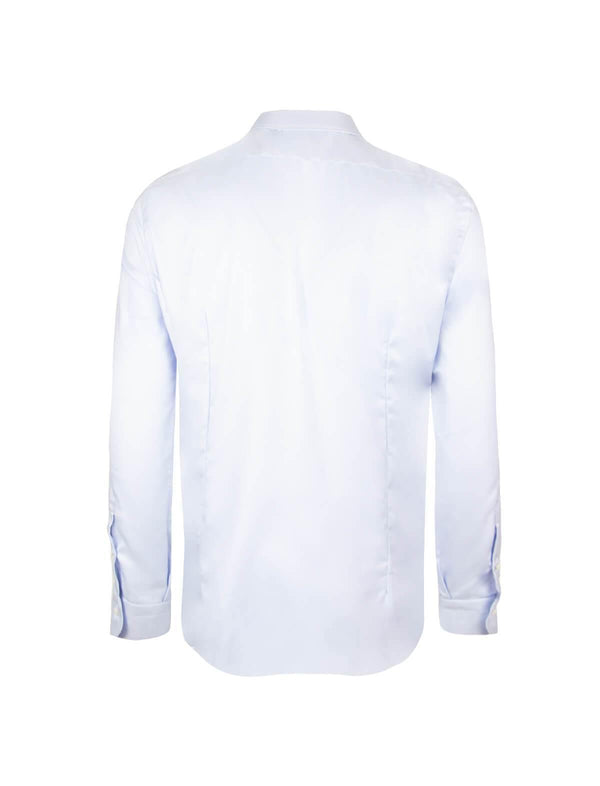 Journey Wrinkle-Resistant Textured Shirt in Light Blue - CLOSET Singapore