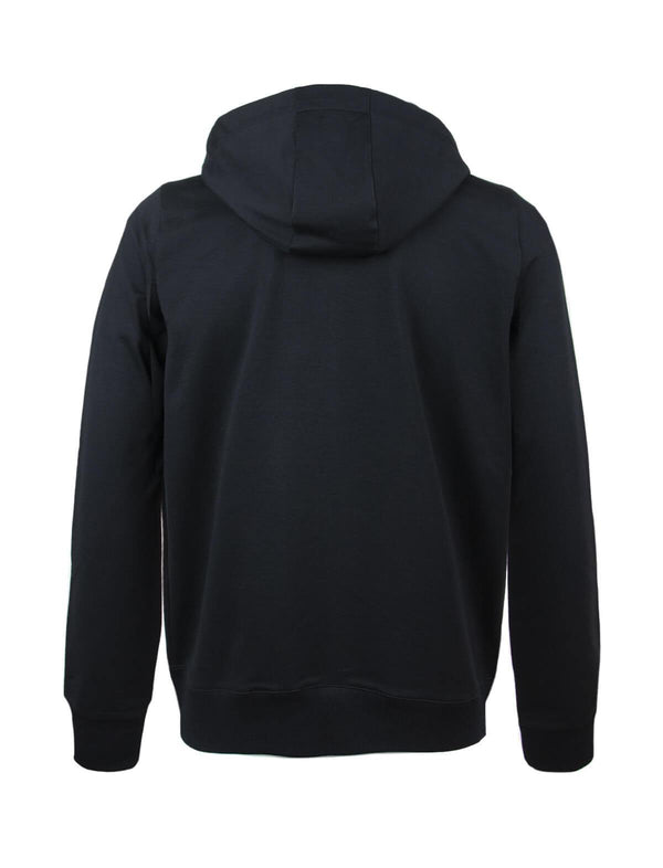 Cotton-blend Hoodie Jacket in Black - CLOSET Singapore