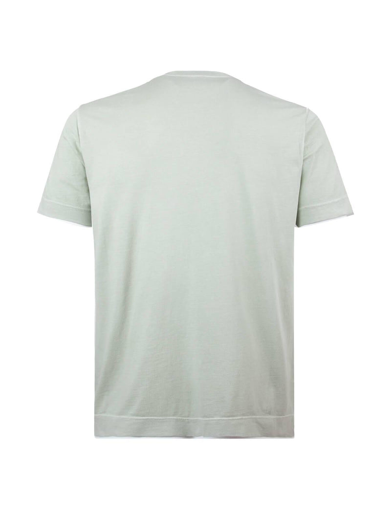Crew Neck Cotton T-Shirt in Pale Green - CLOSET Singapore