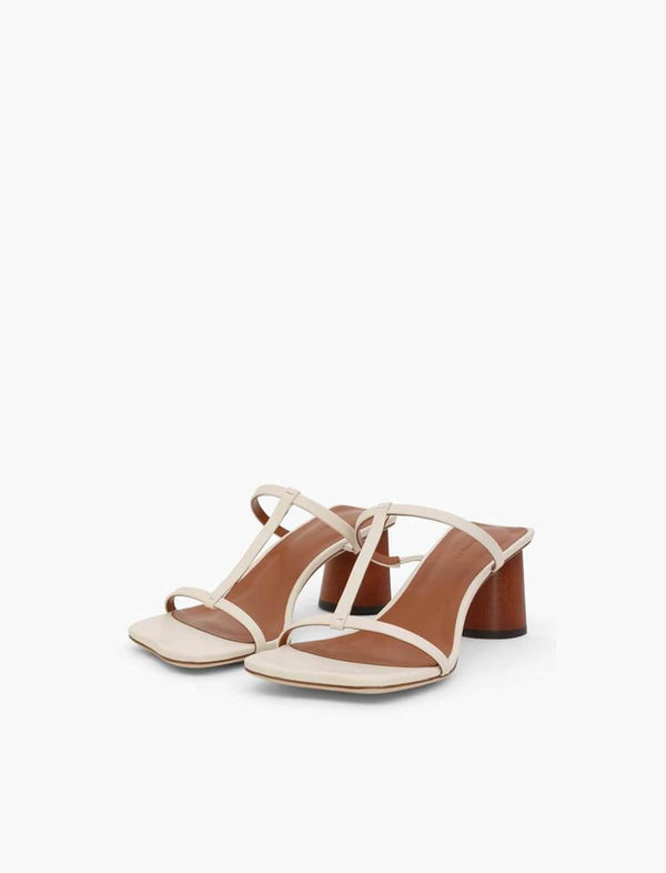 Erin Leather Sandals in Ivory - CLOSET Singapore