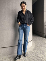 The Birkin Midrise Flare Jeans in Moon Cutoff - CLOSET Singapore