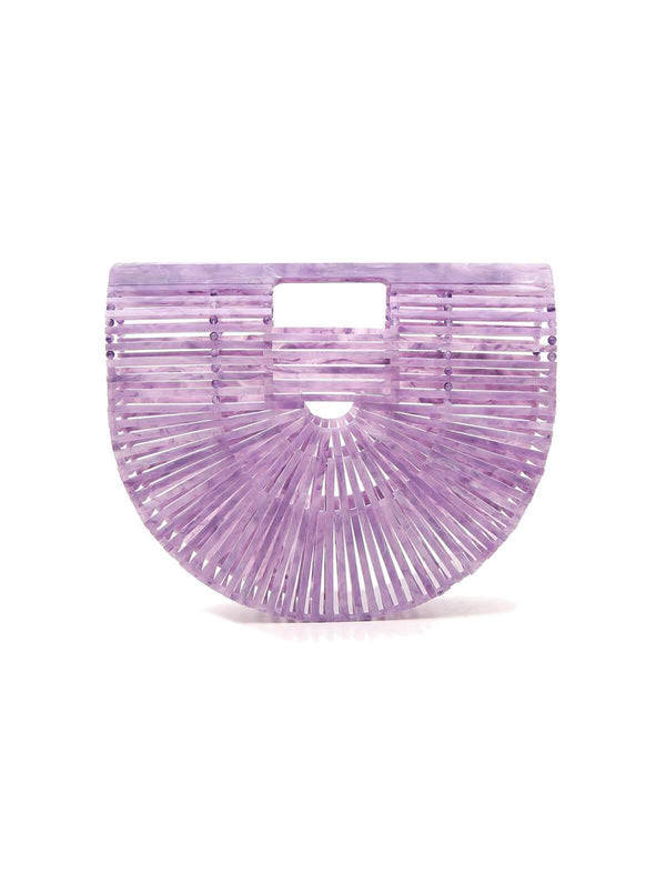 Small Acrylic Ark Clutch Bag in Lavender