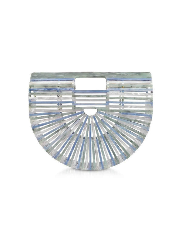 Mini Acrylic Ark Clutch in Sage Multi