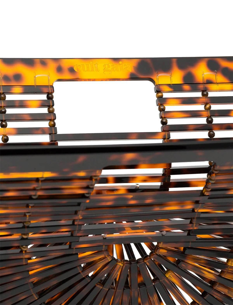 Small Acrylic Ark Clutch Bag in Tortoiseshell