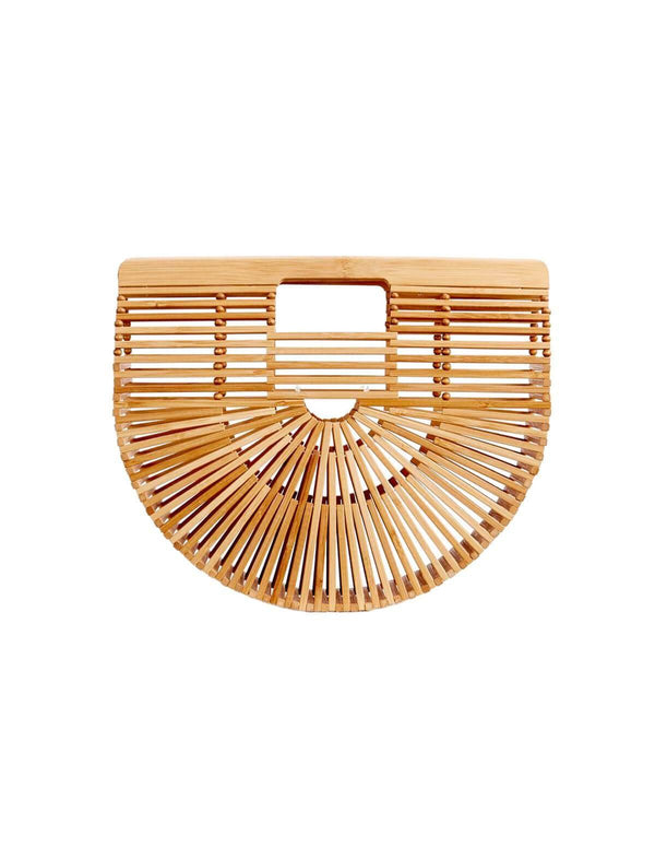 Small Gaia's Ark Bamboo Clutch Bag in Natural
