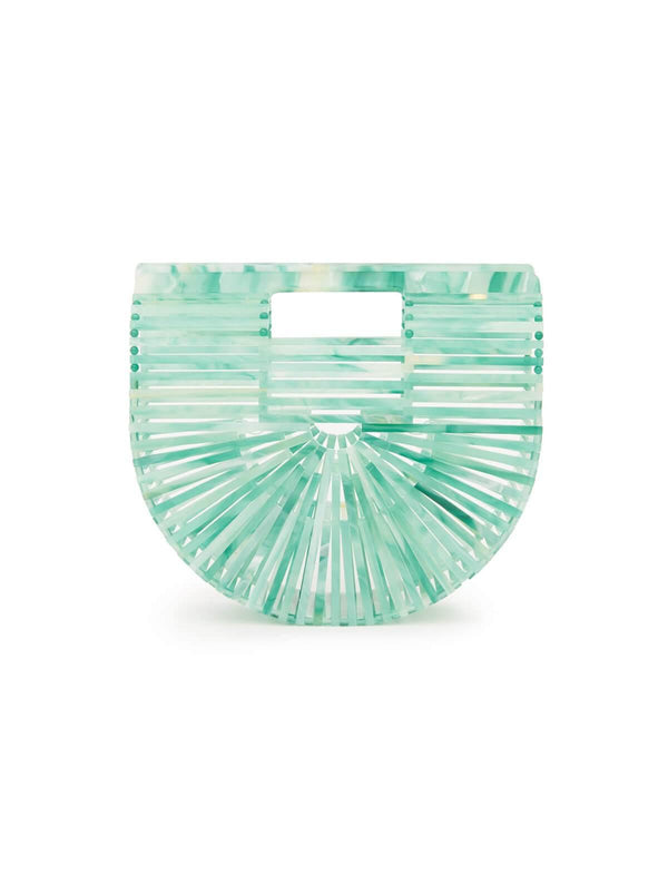 Mini Acrylic Ark Clutch in Seaglass