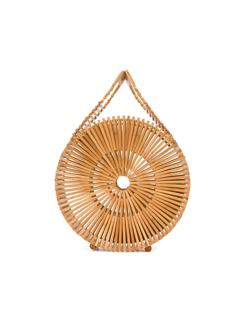Zaha Bamboo Clutch Bag in Natural