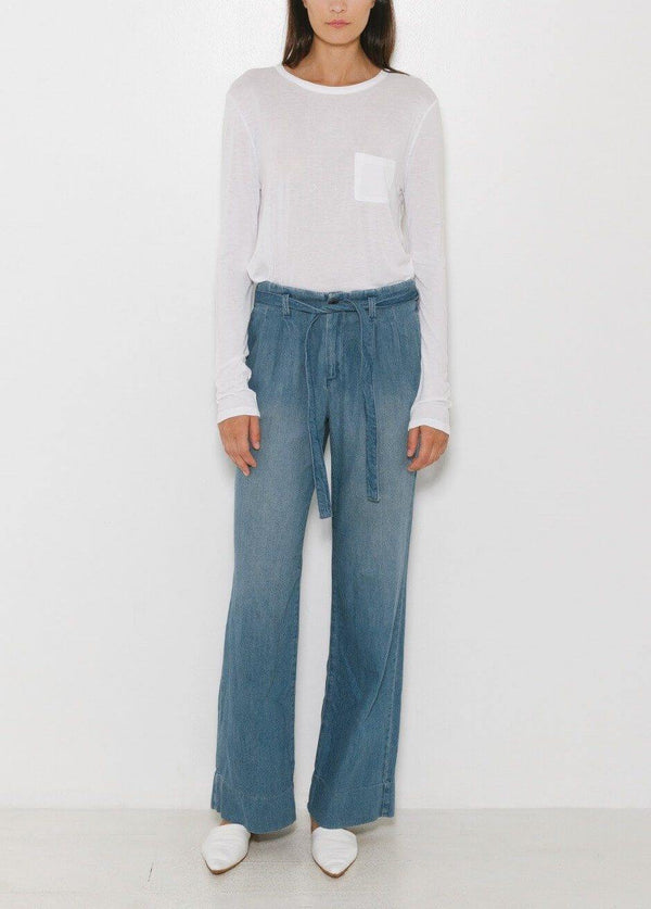 Midrise Wide Straight Denim Jeans in Endless