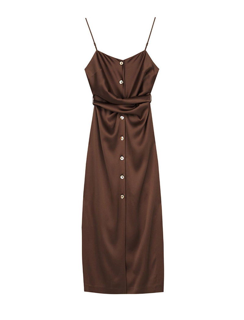 Sayan Dress In Brown