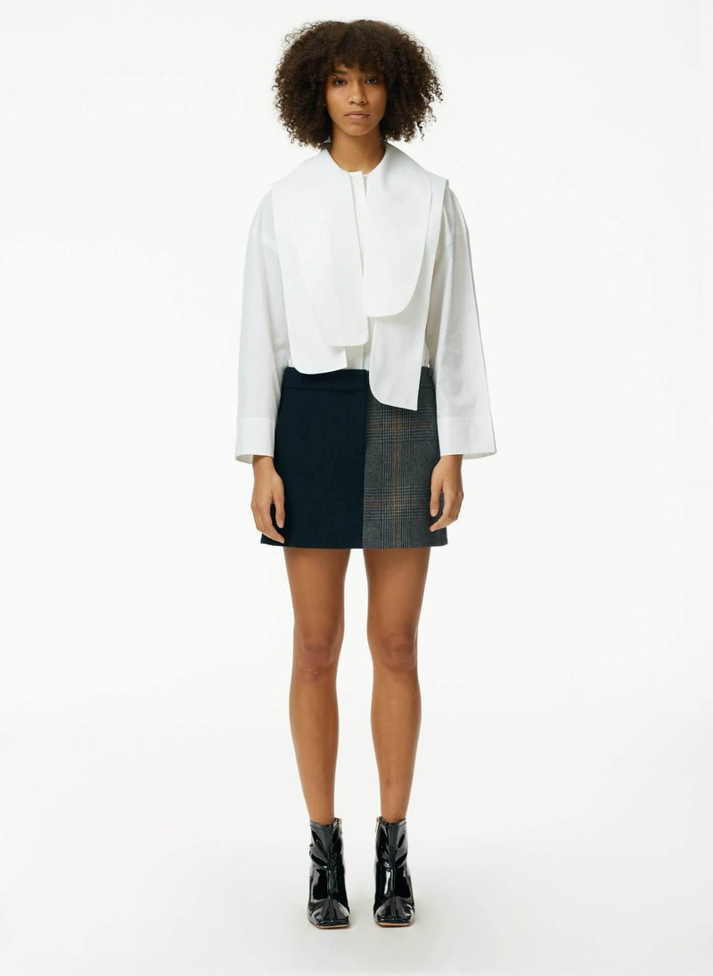 Miles Shirting Flap Shirt in White
