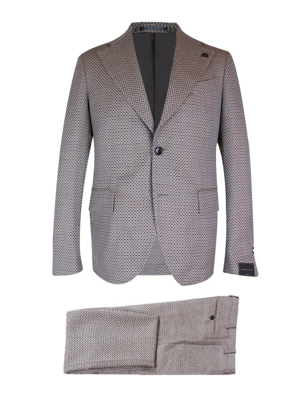 2-Piece Wool Suit in Retro Micro
