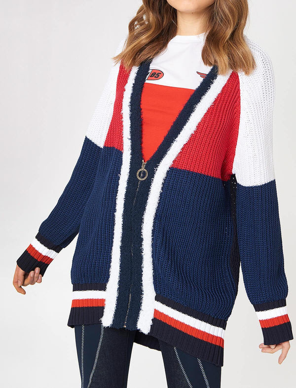 THxGH Wide Knitted Cardigan in Colourblock