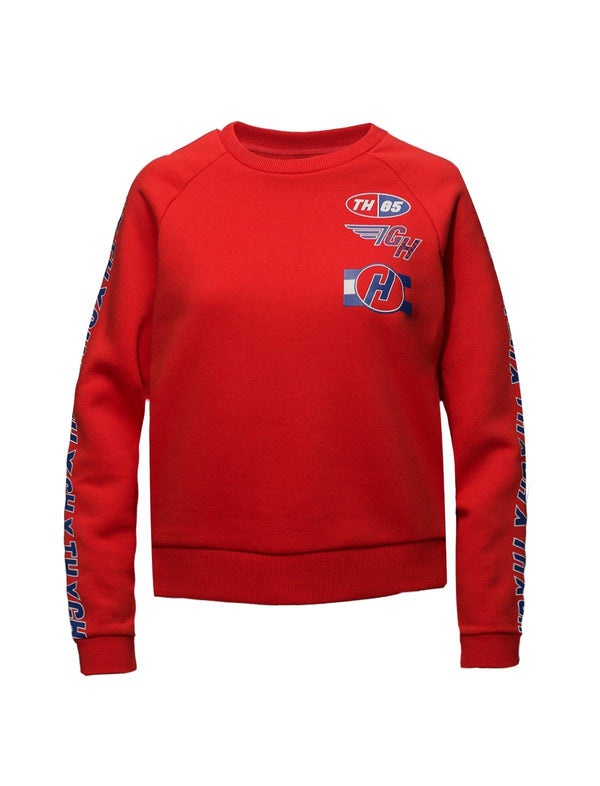 THxGH Cotton Blend Jersey Sweater in Red