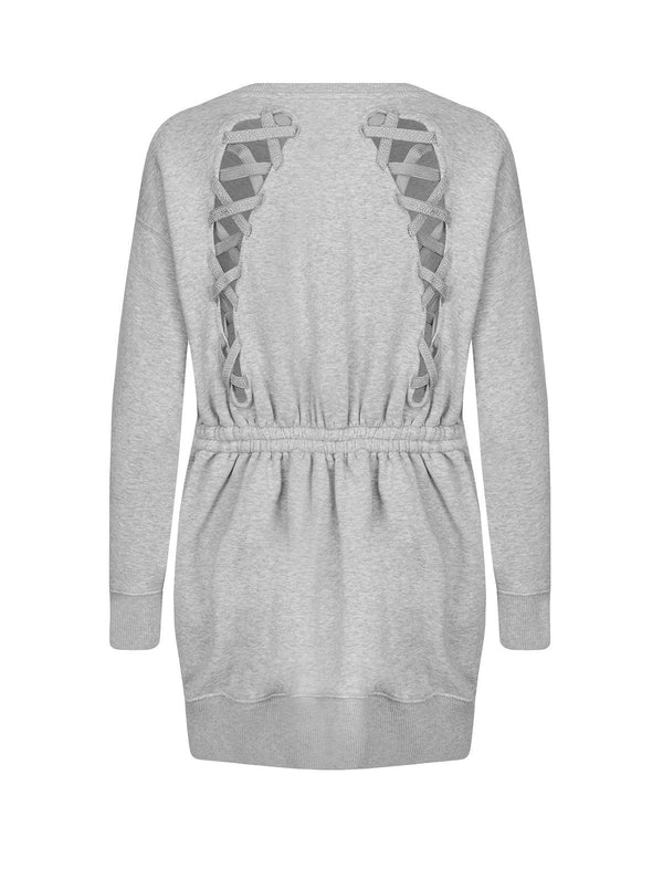 THxGH Cotton Jersey Sweatshirt Dress in Grey