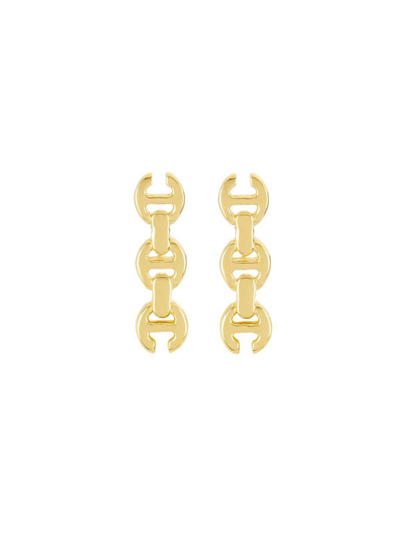 3mm Toggle Studs 18K Gold