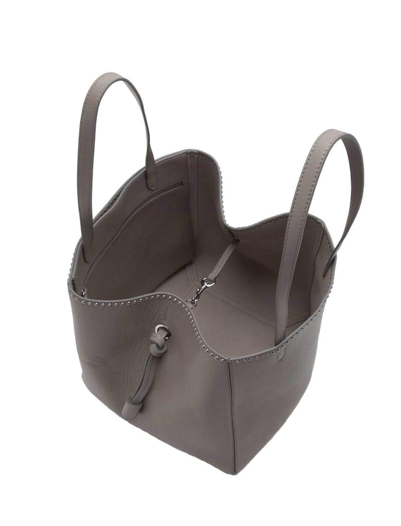 Large Bell With Studs In Warm Taupe