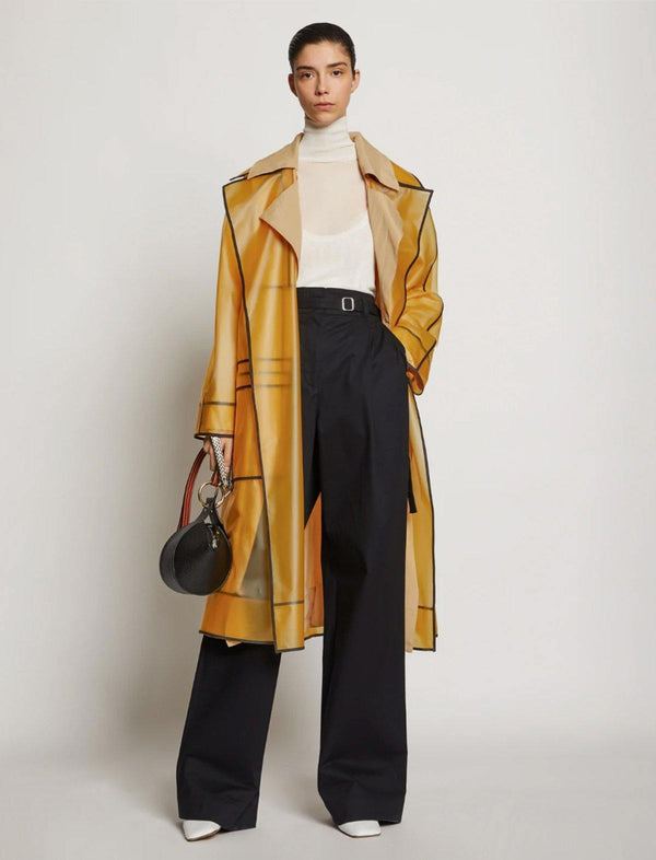 Belted Layered Rain Coat