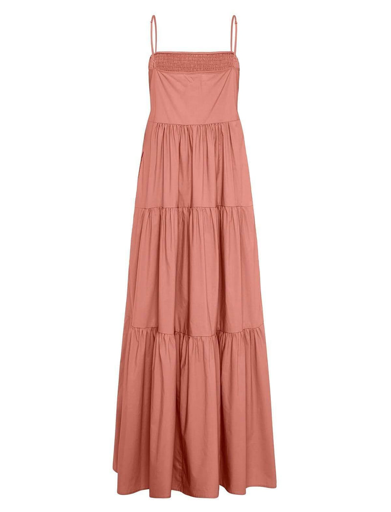 Luna Cotton Dress In Antique Rose - CLOSET Singapore