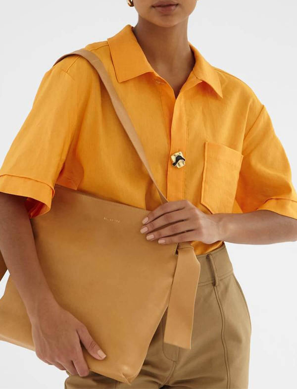 Marty Button-Up Shirt In Orange