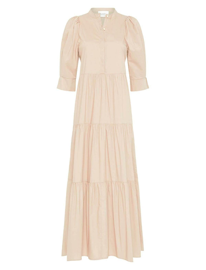Mattea Cotton Dress In Coconut - CLOSET Singapore