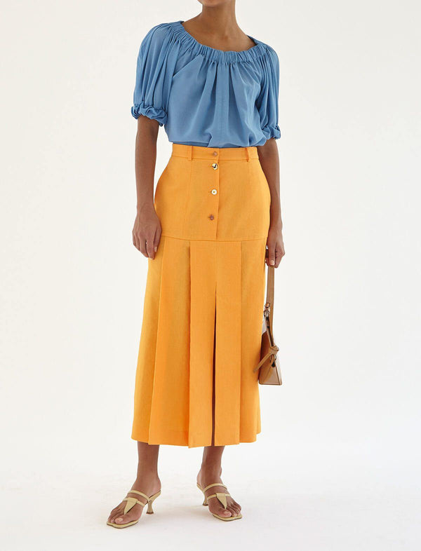 Miller Viscose Blend Skirt In Orange
