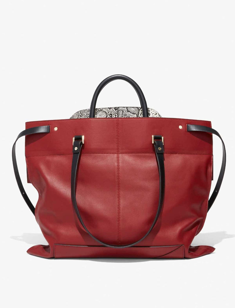 Elaphe PS19 Large Bag In Red - CLOSET Singapore