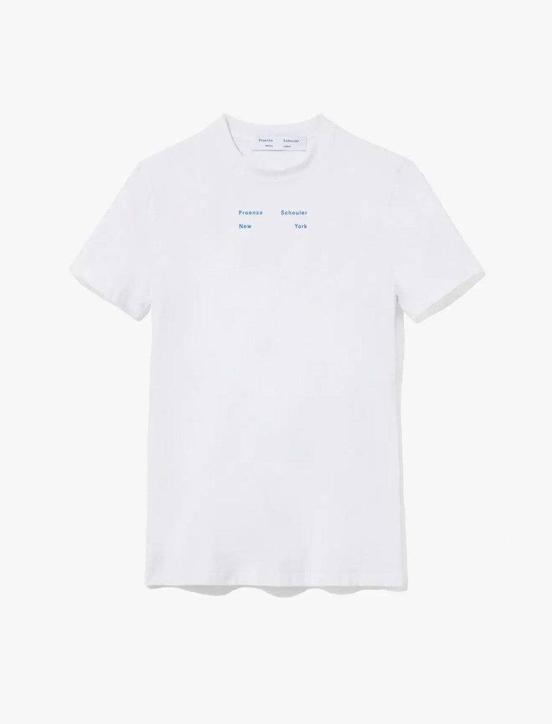 Cotton Jersey Logo T-Shirt In Off White - CLOSET Singapore