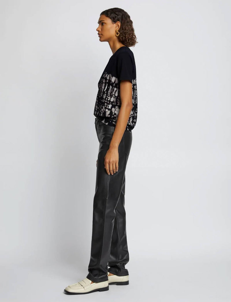 Boxy T-Shirt In Tie Dye Black Print - CLOSET Singapore