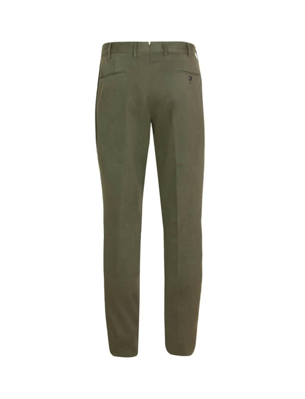 Gentleman Fit Cotton Pants In Army Green - CLOSET Singapore