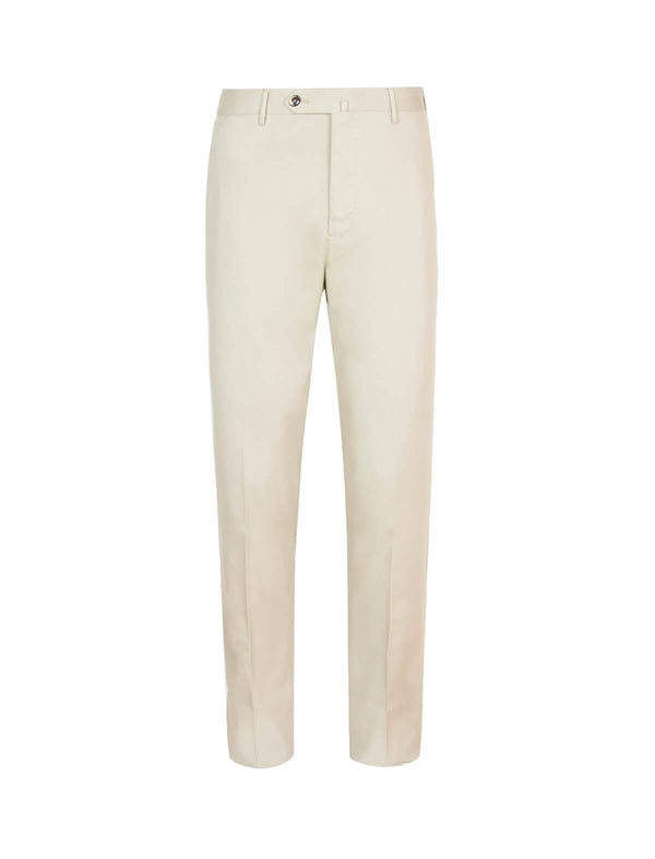 Super Slim Fit Model-Cotton Pants In Beige
