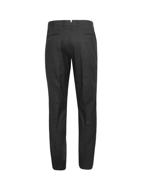 Super Slim Fit Cotton Pants In Black