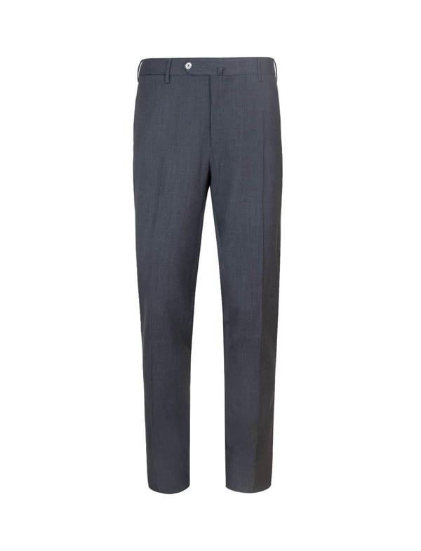 Super Slim Fit Wool-Blend Trousers In Gray