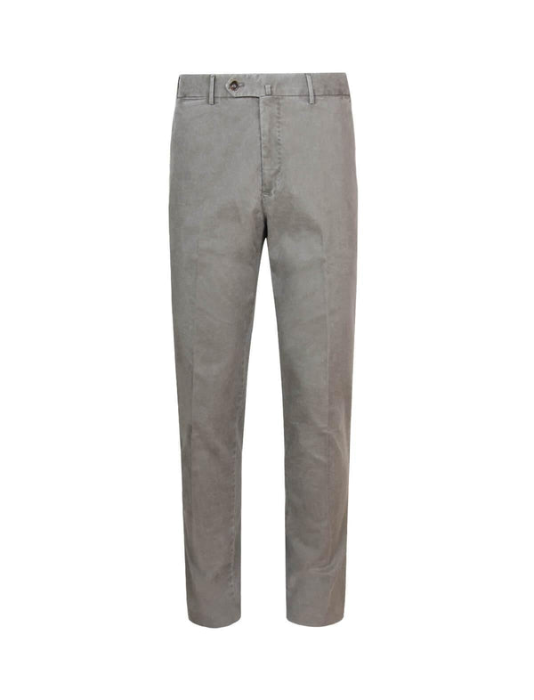 Super Slim Fit Cotton Pants In Khaki Brown