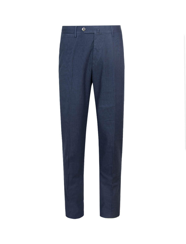 Super Slim Fit Wool-Blend Trousers In Navy