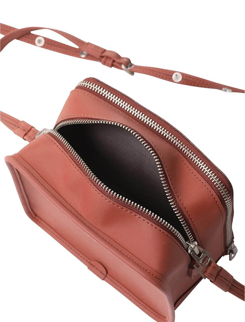 Pocketable Shopping Crossbody Bag in Brown