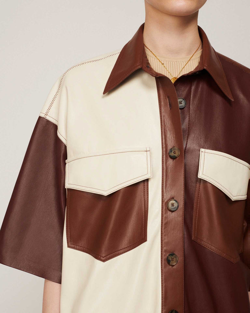 Roque Shirt In Brown Patch