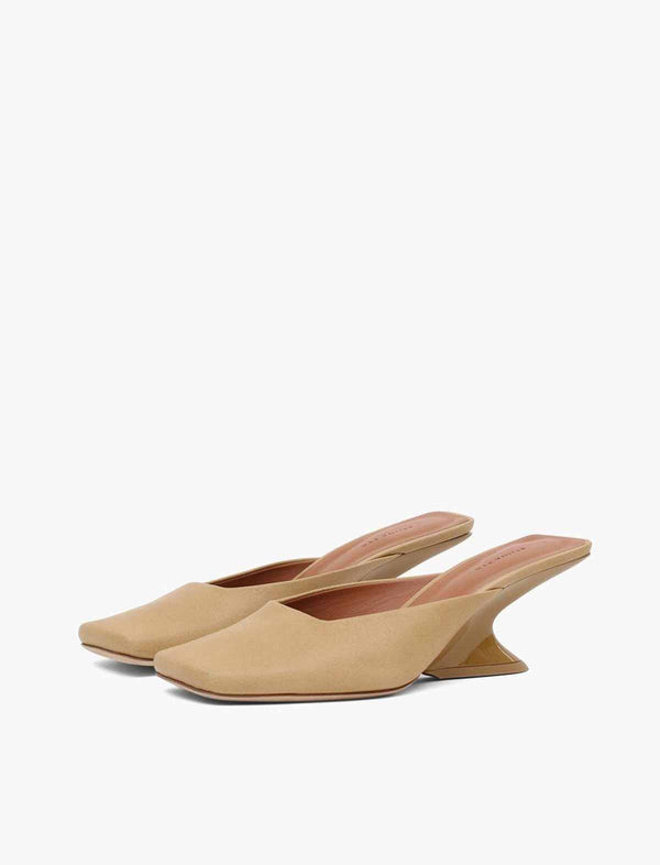 Layla Wedges in Leather Camel