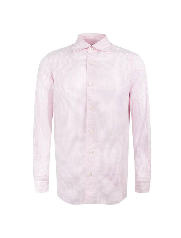 Tokyo Cotton Chambray Shirt in Light Pink Checks