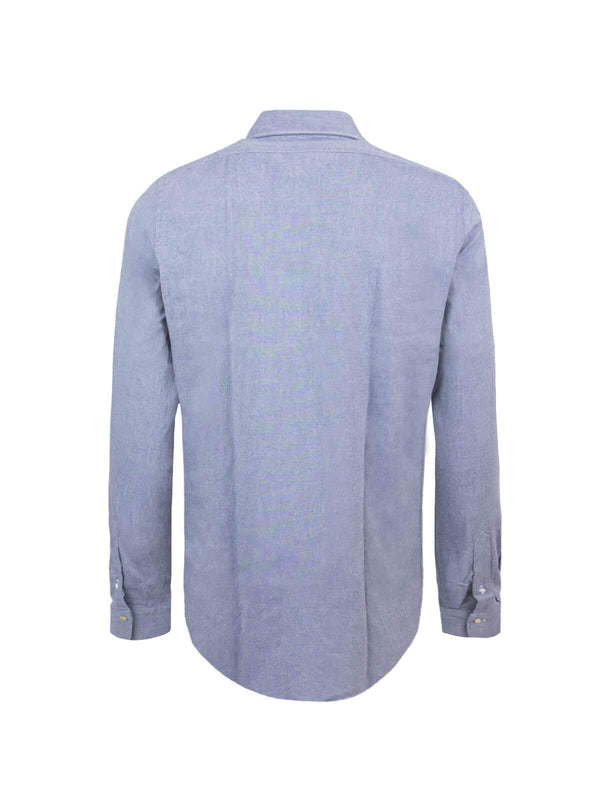 Tokyo Cotton Chambray Shirt in Blue