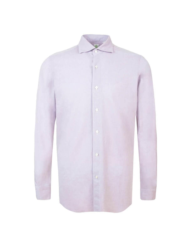 Tokyo Cotton Chambray Shirt in Pink - CLOSET Singapore