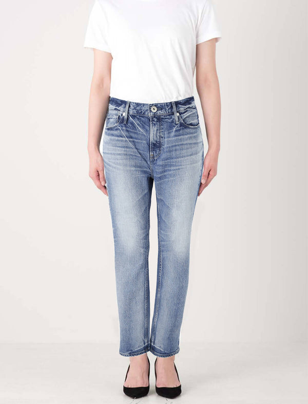 The Lipstick Midrise Straight Jeans in Topaz